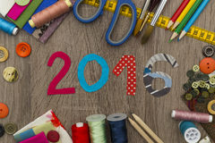 Manierontwerp - nieuw jaar 2016 Stock Foto