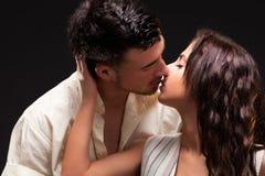 Manierpaar, Dramatisch beeldschot Royalty-vrije Stock Foto