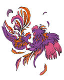 Manierpaar van vogels royalty-vrije illustratie