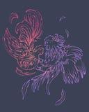 Manierpaar van vogels stock illustratie
