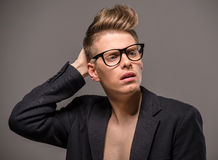 Manierportret van de mens Stock Foto's