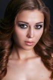 Manierportret van jonge mooie sexy vrouw Stock Foto