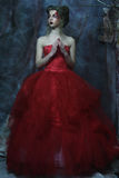 Manierportret van romantisch mooi meisje royalty-vrije stock fotografie