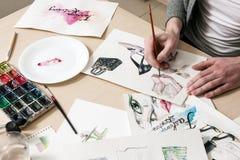 Manierschets door kunstenaar wordt ontworpen die stock foto's