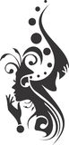 Maniersilhouet Royalty-vrije Stock Fotografie