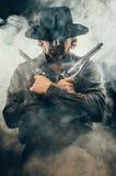 Manieur de pistolet occidental sauvage Photo libre de droits