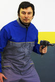 Manieur de pistolet pneumatique photo libre de droits