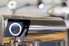 Manifacture delle macchine fotografiche di videosorveglianza Fotografia Stock