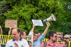 Manifest gegen missbräuchliche Abholzung Lizenzfreies Stockbild