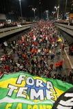 Manifest i Sao Paulo/Brasilien royaltyfri bild