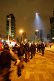 Manifest i Sao Paulo/Brasilien fotografering för bildbyråer