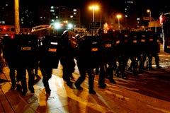 Manifest i Sao Paulo/Brasilien arkivbilder