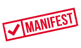 Manifest rubber stamp Stock Photography