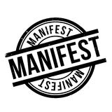 Manifest rubber stamp Royalty Free Stock Photos
