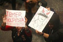 Manifest in Sao Paulo/in Brasilien Lizenzfreies Stockfoto