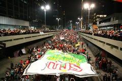 Manifest in Sao Paulo/in Brasilien Stockfoto
