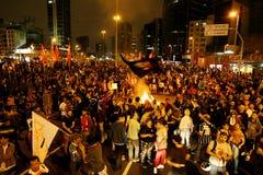 Manifest in Sao Paulo/in Brasilien Lizenzfreie Stockfotografie