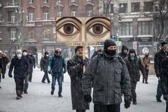 Manifestação antigovernamental Ucrânia dos protestos Imagem de Stock Royalty Free