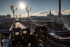 Manifestação antigovernamental Ucrânia dos protestos Fotografia de Stock