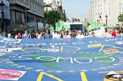 Manifestação calma de 12M para um aniversário de 15M Imagens de Stock Royalty Free