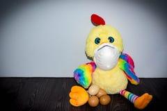 Manifestação da gripe das aves Imagem de Stock Royalty Free