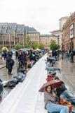 Manifestação de protesto da manifestação dos povos contra a imigração polic Foto de Stock