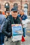 Manifestação de protesto da manifestação dos povos contra a imigração polic Foto de Stock Royalty Free