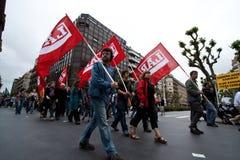 Manifestação do basque da união do Syndicate Imagens de Stock Royalty Free