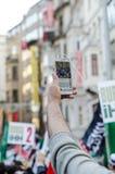 Manifestação V de Mavi marmara Imagem de Stock Royalty Free