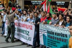 Manifestação VII de Mavi marmara Fotos de Stock Royalty Free