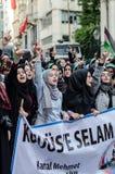Manifestação X de Mavi marmara Fotografia de Stock Royalty Free