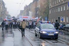 Manifestación de los trabajadores foto de archivo libre de regalías