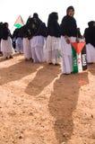 Manifestación de Saharaui Fotos de archivo