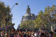 Manifestacja jednostką Hiszpania obrazy royalty free