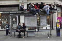 MANIFESTANTE DE ANTI-CUTS EN LONDRES Imagenes de archivo