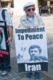 Manifestante mayor Fotografía de archivo libre de regalías