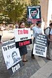 Manifestante mayor Fotografía de archivo