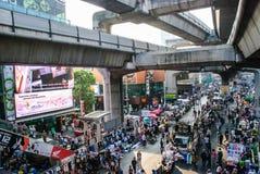 Manifestante tailandés contra el gobierno Foto de archivo libre de regalías