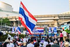 Manifestante tailandés contra el gobierno Fotografía de archivo libre de regalías