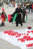 Manifestantes Antis-Gaddafi Imagenes de archivo