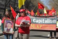 Manifestantes comunistas Fotografía de archivo