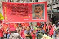 Manifestantes comunistas Imágenes de archivo libres de regalías