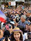 Manifestantes 2014 de Bangkok Imagenes de archivo