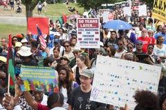 Manifestantes de las derechas civiles Imagen de archivo libre de regalías