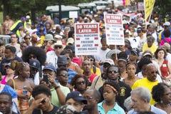 Manifestantes de las derechas civiles Imagenes de archivo