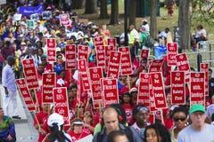 Manifestantes de las derechas civiles Imágenes de archivo libres de regalías