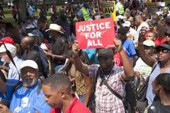 Manifestantes de las derechas civiles Fotografía de archivo libre de regalías