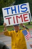 Manifestantes del cuidado médico Foto de archivo libre de regalías