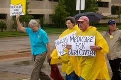 Manifestantes del cuidado médico Imagen de archivo