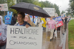 Manifestantes del cuidado médico Foto de archivo